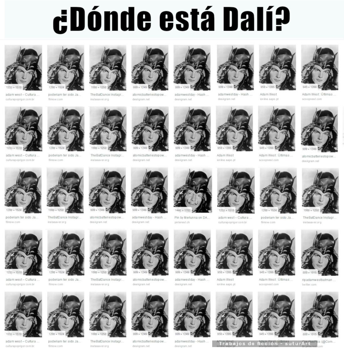 Meme – POP art – Adam West: buscando a Dalí