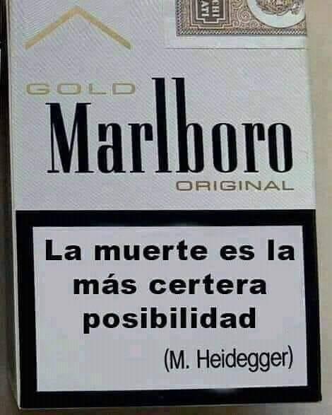 Meme – Filosofía pop – Cajetilla de cigarrillos existencial