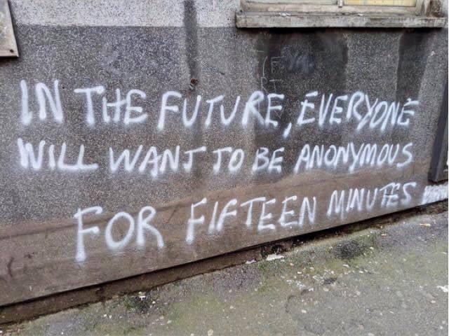 Meme – Graffiti art – Anónimo por quince minutos