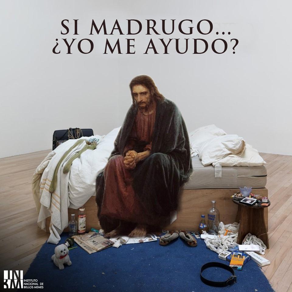 MEME – Arte contemporáneo – Cristo madrugador