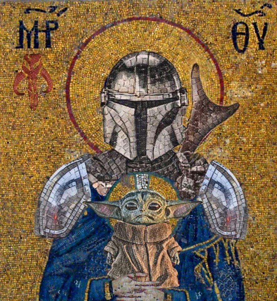 Meme – Series – Mandalorian mosaico azulejos