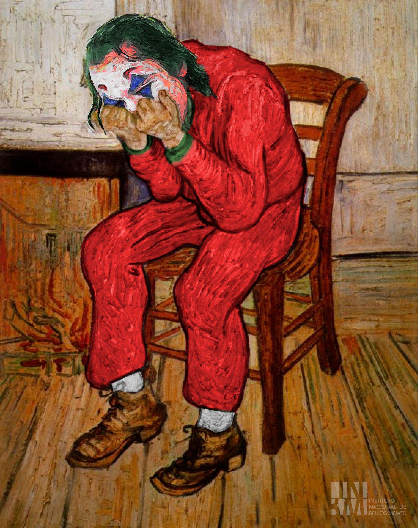 Meme – Van Gogh – Anciano afligido joker