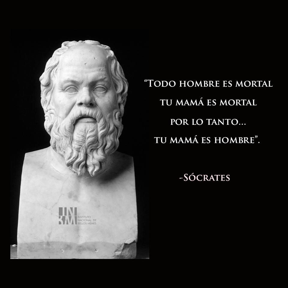 Meme – Filosofía – Sócrates: tu mamá es hombre
