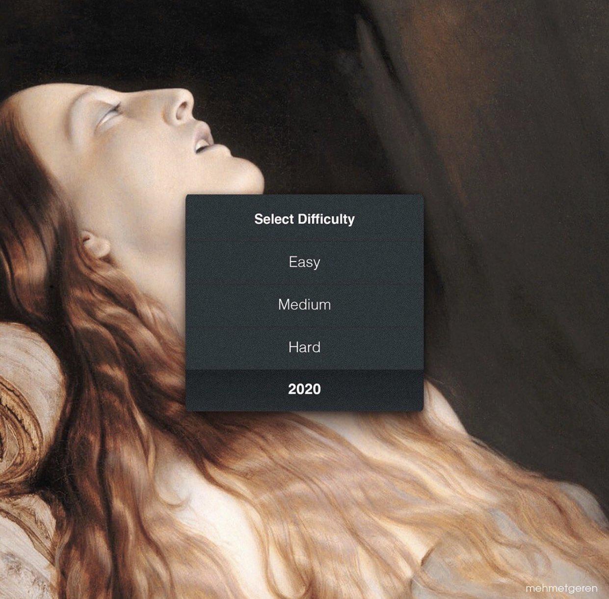 Meme – Arte decimonónico – Louise Vernet en su lecho de 2020