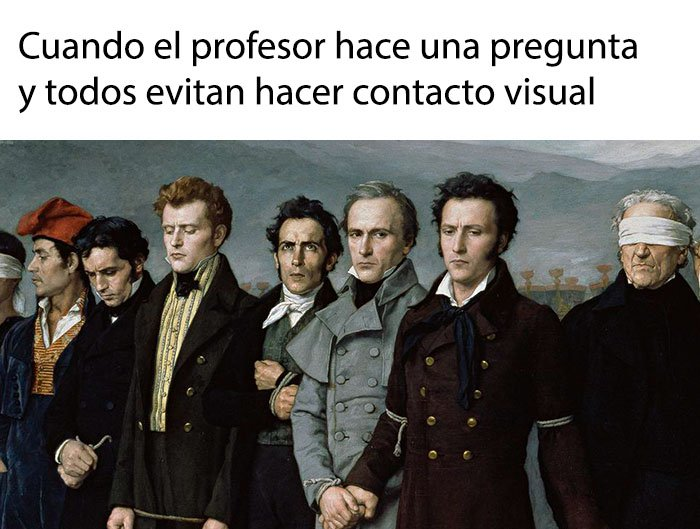 Meme de historia del arte - evitando el contacto visual