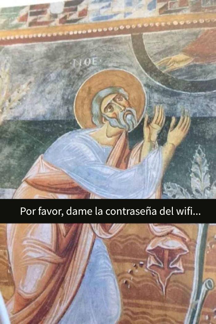 Meme de historia del arte - sobre acceso a wifi