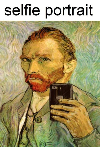 Meme – Vanguardias artísticas – Selfie van Gogh