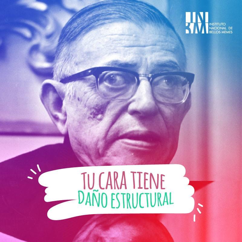 Meme – Filosofía existencialista – Sartre de lunes