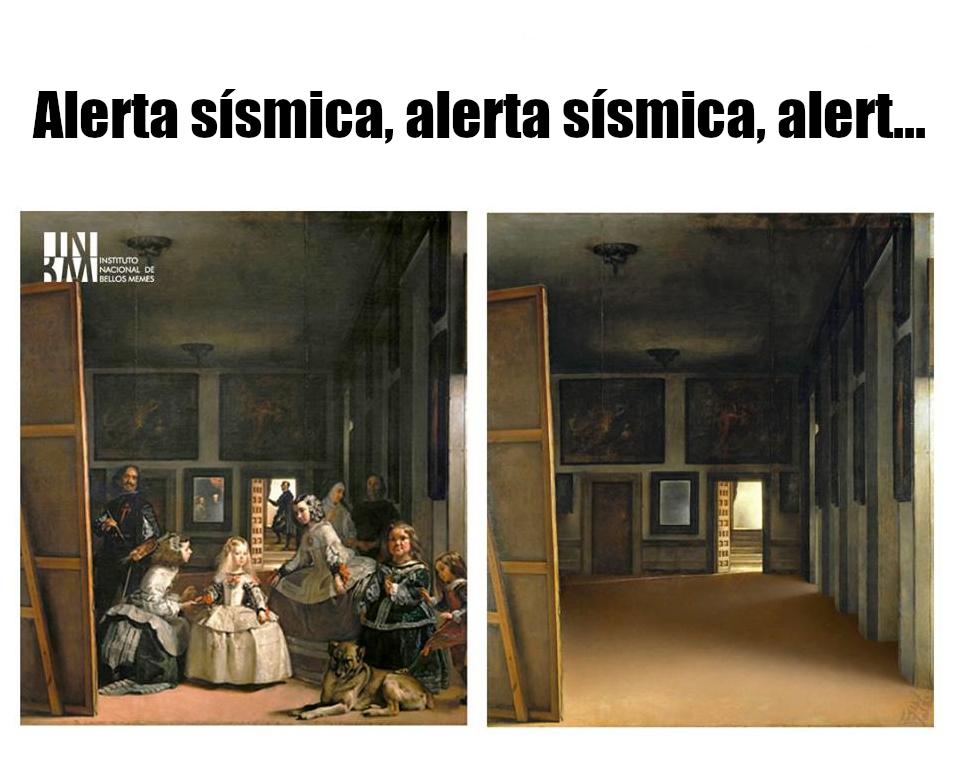 Meme – Arte barroco – Las meninas alerta sísmica