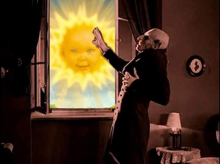 Meme – Expresionismo alemán – Nosferatu y los Teletubbies
