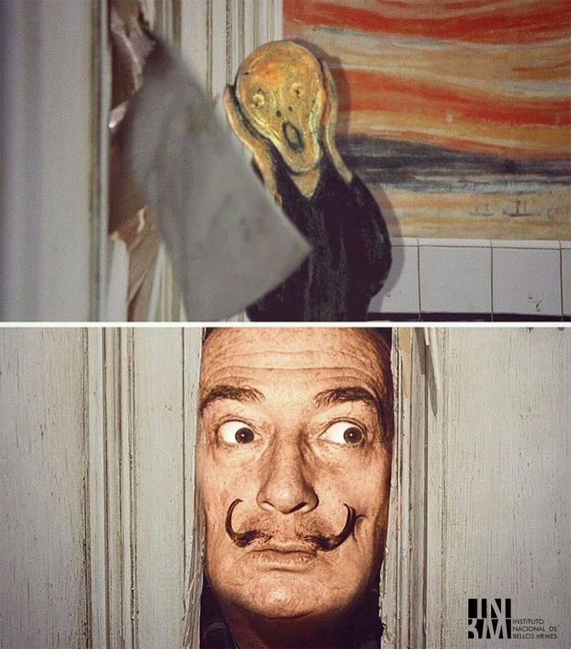 Meme – vanguardias artísticas – Dalí, el grito y el resplandor