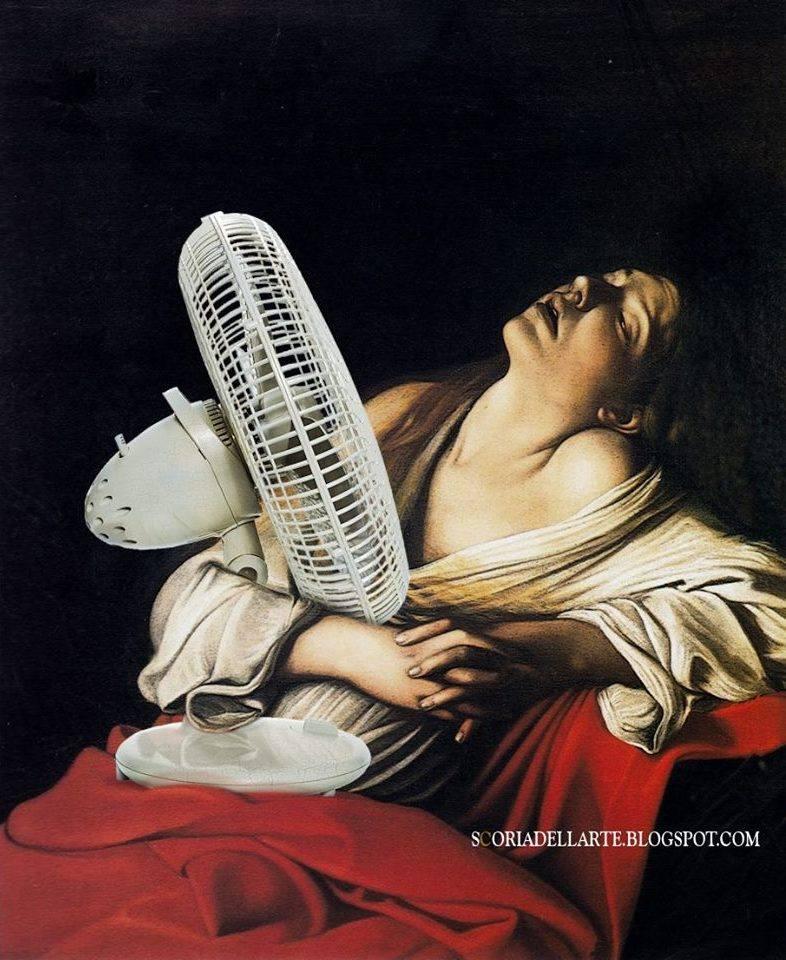 Meme – Caravaggio – María Magdalena en éxtasis de verano