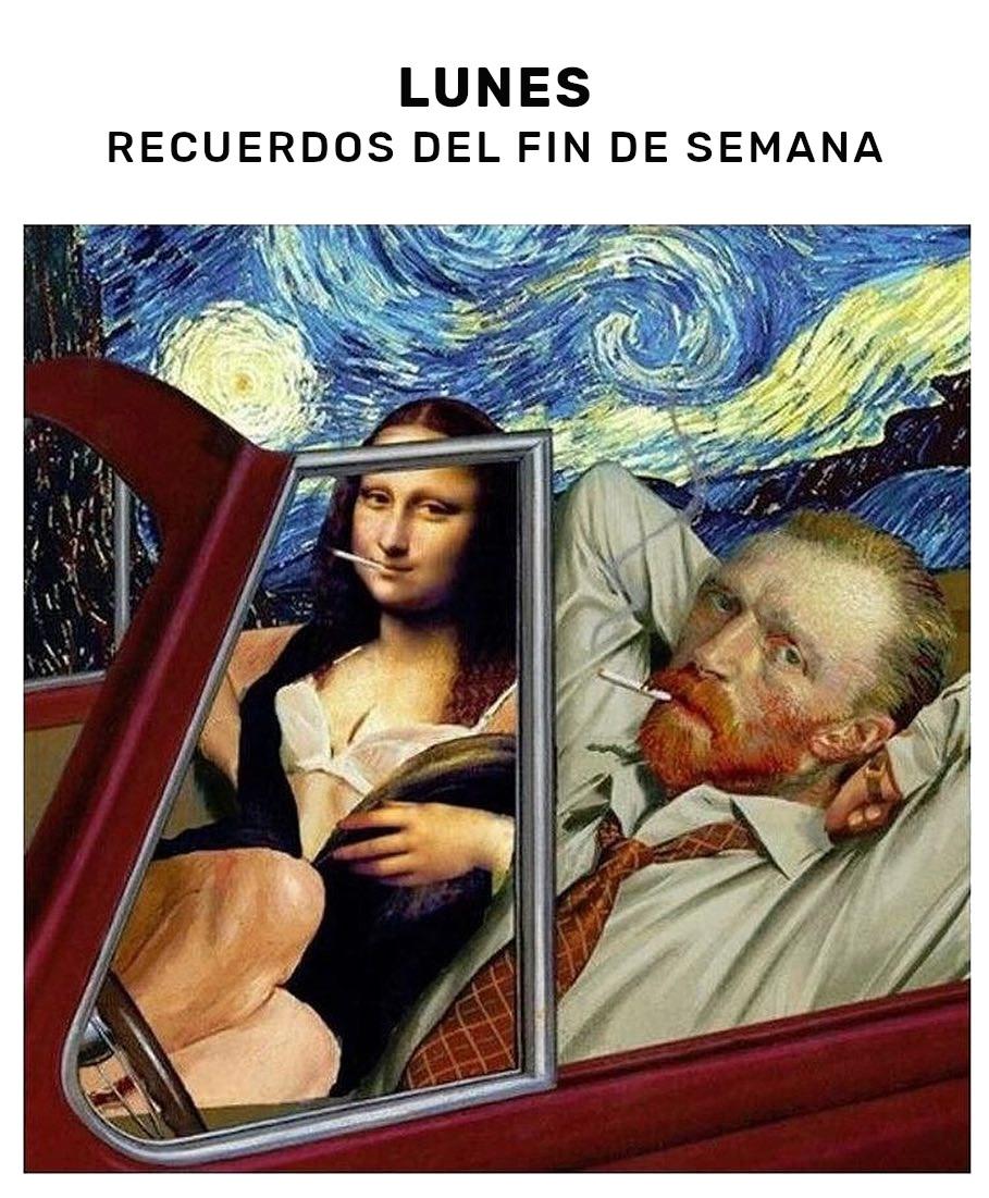 Meme – Arte – Mona Lisa y Vincent weekend