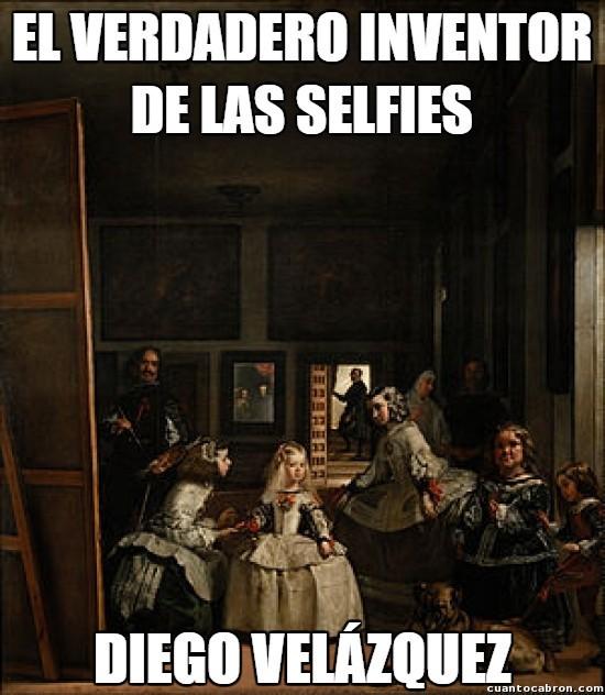 Meme – Barroco – Velázquez meninas inventor de las selfies