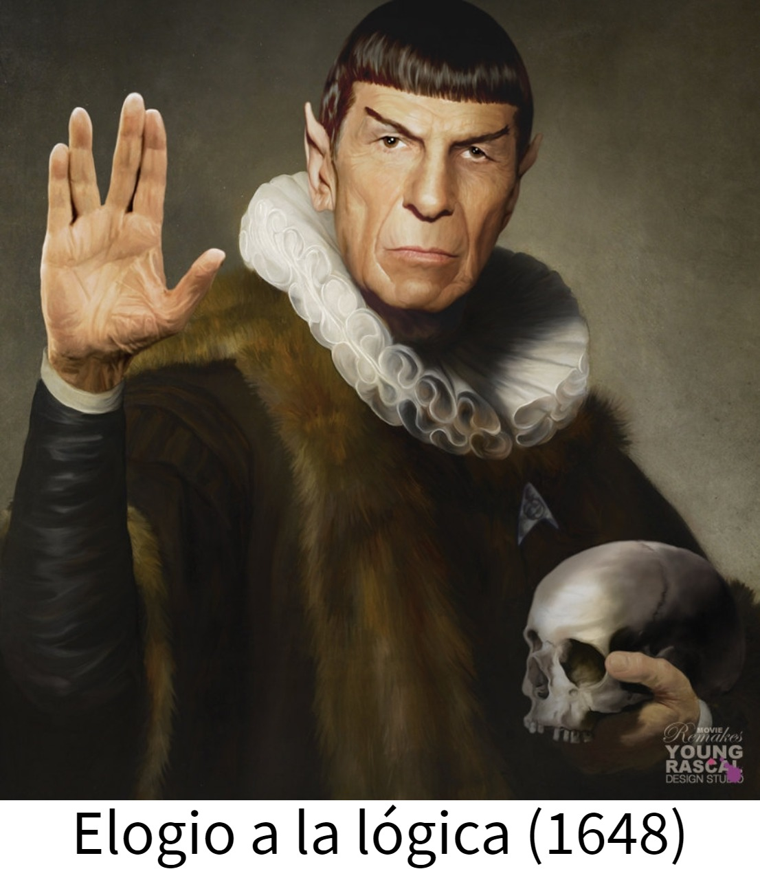 Meme – Diseño – Spock pintura barroca Elogio a la Lógica