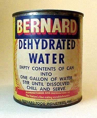 Meme – Pop art –  Lata con agua deshidratada